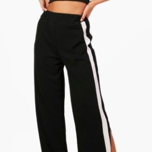 Boohoo TALL collection contrast wide leg trouser